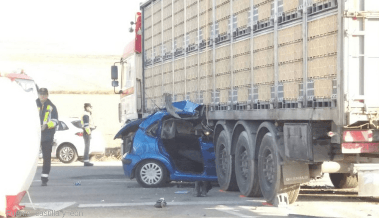 Un muerto en accidente en Cuéllar