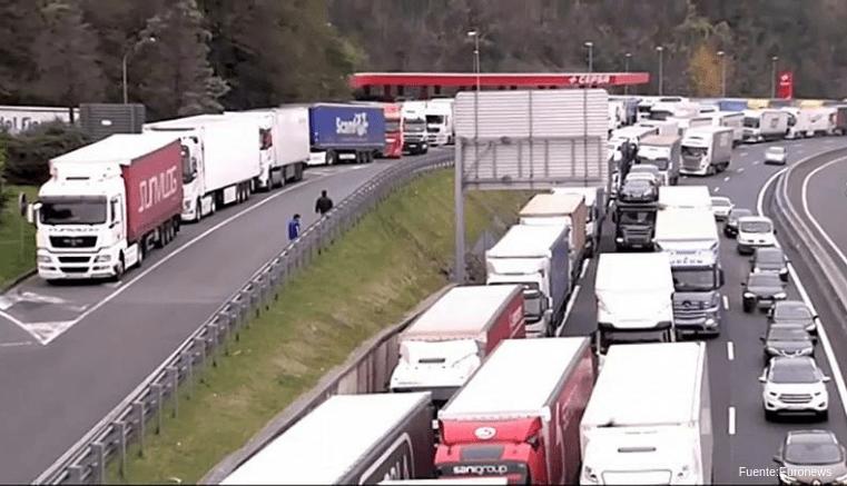 Protestas en Francia mantienen más de 1000 camiones exportadores de frutas y hortalizas Españoles Atrapados