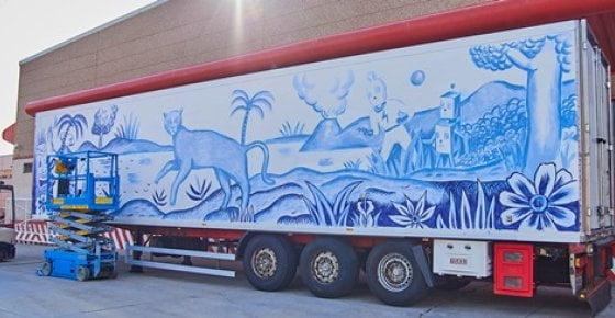 Arte contemporáneo en camiones Palibex