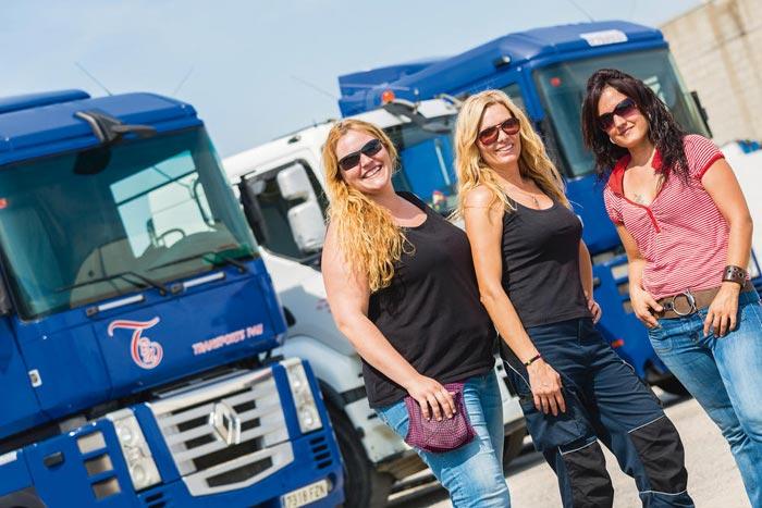 Letizia respalda a las mujeres camioneras