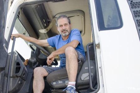 El Camionero español, casi un superhombre