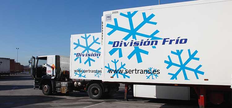 El transporte de alimentos en camiones con temperatura controlada
